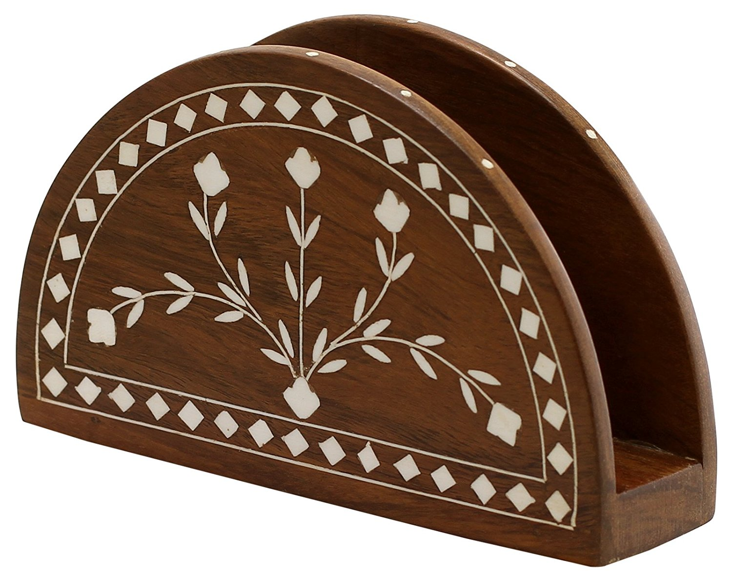 Wooden Napkin Holder Thanksgiving Decorations - Envelope Letter, Document Holder Centerpiece for Table Desk Organiser