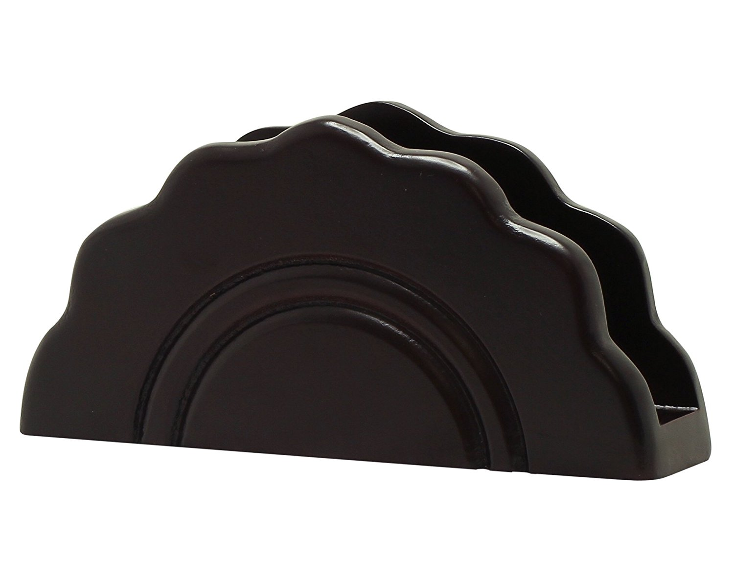 Clearance Sale Items - Wooden Black Napkin Holder Decorative Centerpiece Office