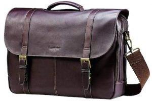 Samsonite Columbian Leather Flapover Case - Best travel bag for men