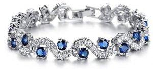 FeracoCubic Zirconia Bracelet For Women Crystal Bangle Jewelry