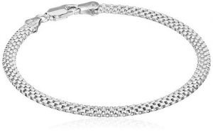 Sterling Silver Mesh Chain Women Bracelets