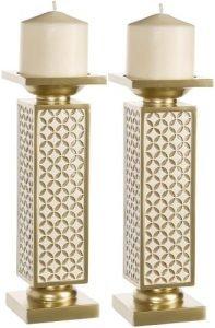 Diamond Lattice Pillar Candle Holders