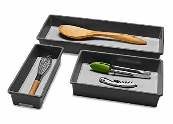 Madesmart 3 Tray Pack, Granite - Kitchen Utensil Holder