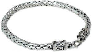 Novica .925 Sterling Silver Chain Bracelet