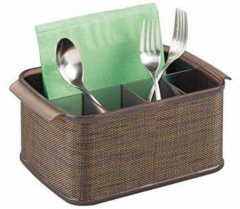 mDesign Plastic Cutlery Storage Organizer