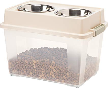 Iris Airtight Elevated Storage Feeder With Bowls