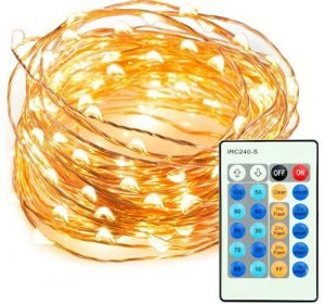 TaoTronics 33ft 100 LED String Lights Dimmable with Remote Control