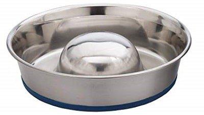 DuraPet Slow Feed Premium Stainless Steel Dog Bowls