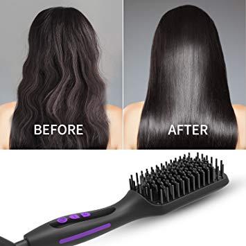 GLAMFIELDS Ionic Hair Straightener Brush