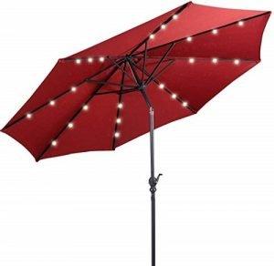 Giantex 10ft Solar Patio Umbrella Sunbrella