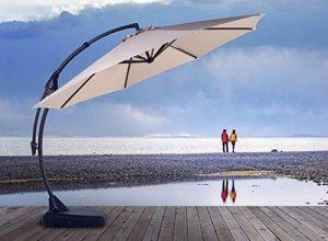 Grand Patio Deluxe 11.5 FT Curvy Aluminum Offset Umbrella