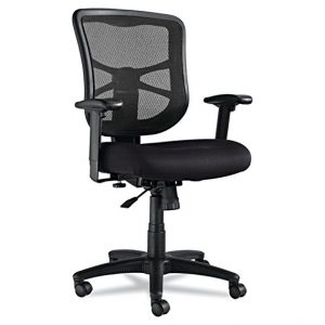 ALEEL42BME10B Elusion Series Mesh Mid-Back Swivel Comfortable Office Chair by Alera