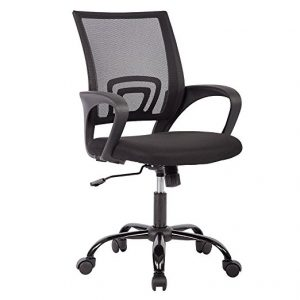 Ergonomic Mesh Computer Office Desk Midback Task Chair with Metal Base by Best Office