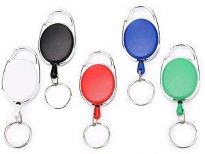Fushing Split Ring Retractable Key Chain