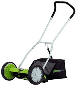 GreenWorks 16-Inch Reel Lawn Mower-min