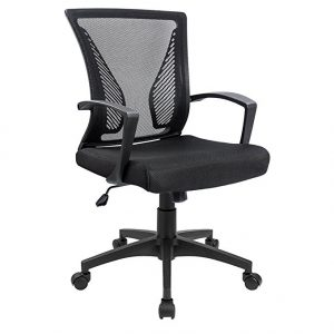 Office Chair Mid Back Swivel Lumbar Support Most Comfortable Office Chairs by Furmax