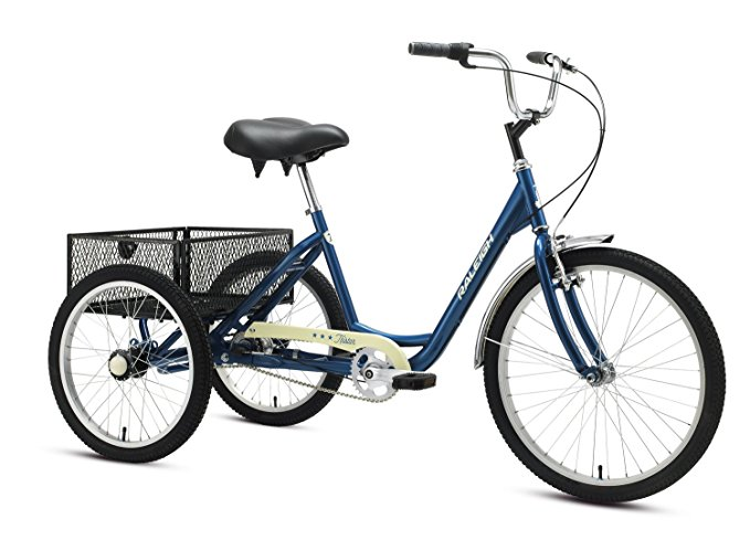 Raleigh's Tristar 3-Speed Trike Adult 3 wheel bike