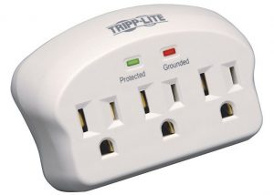 Tripp Lite 3 Outlet Portable Surge Protector Power Strip