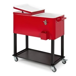 Best Choice Products 80-Quart Rolling Cooler Cart