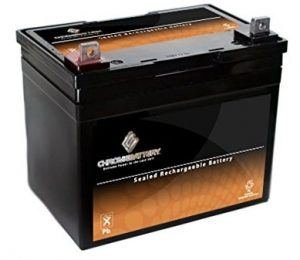 Chrome electric Lawnmower Battery