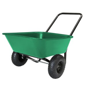 Garden Star 70019 Garden Barrow Dual-Wheel Wheelbarrow