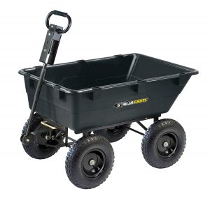 Gorilla Carts GOR866D Heavy-Duty Garden Poly Dump Cart