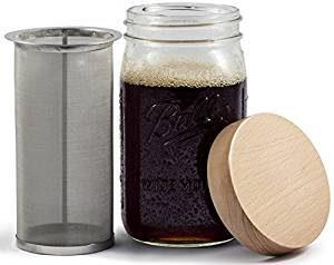 Mason Jar iced Coffee Maker