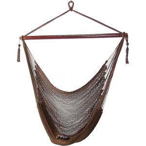 Sunnydaze Hanging Caribbean Extra Large Hammock Rope Chair