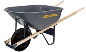 True Temper 6-Cubic Foot Steel Wheelbarrow