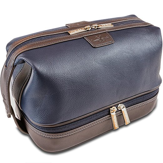 Vatteli Leo Leather toiletry bag for men