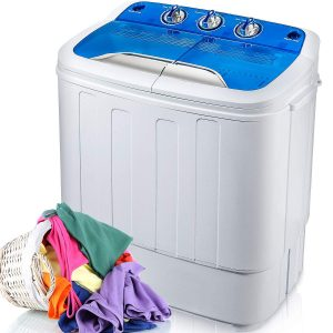 Merax Portable Washing Machine Mini Compact Twin Tub Washer Machine