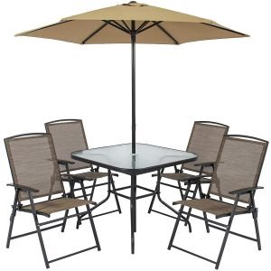 Best Choice Products 6pc Outdoor Folding Patio Dining Set.