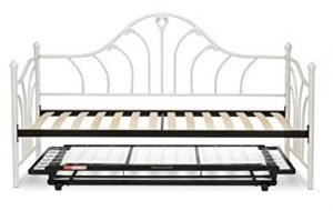 Emma Complete Metal Daybed with Euro Top Deck and Trundle Bed
