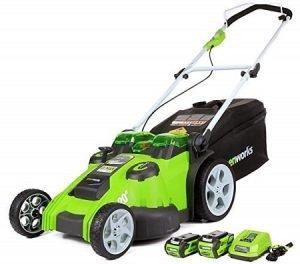 GreenWorks Twin Force Cordless Electric Lawn Mower