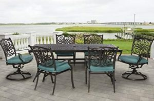 Hanover TRADITIONS7PCSW Traditions Deep-Cushioned Outdoor Dining Set