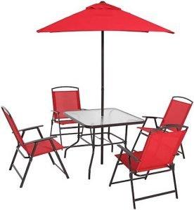 Mainstays Albany Lane 6-Piece Folding Seating Set