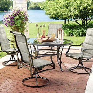 Statesville 5-Piece Padded Sling Patio Dining Set.