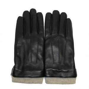 MATSU Men Winter Warm Touchscreen Texting Lambskin Driving Motorcycle Leather Gloves