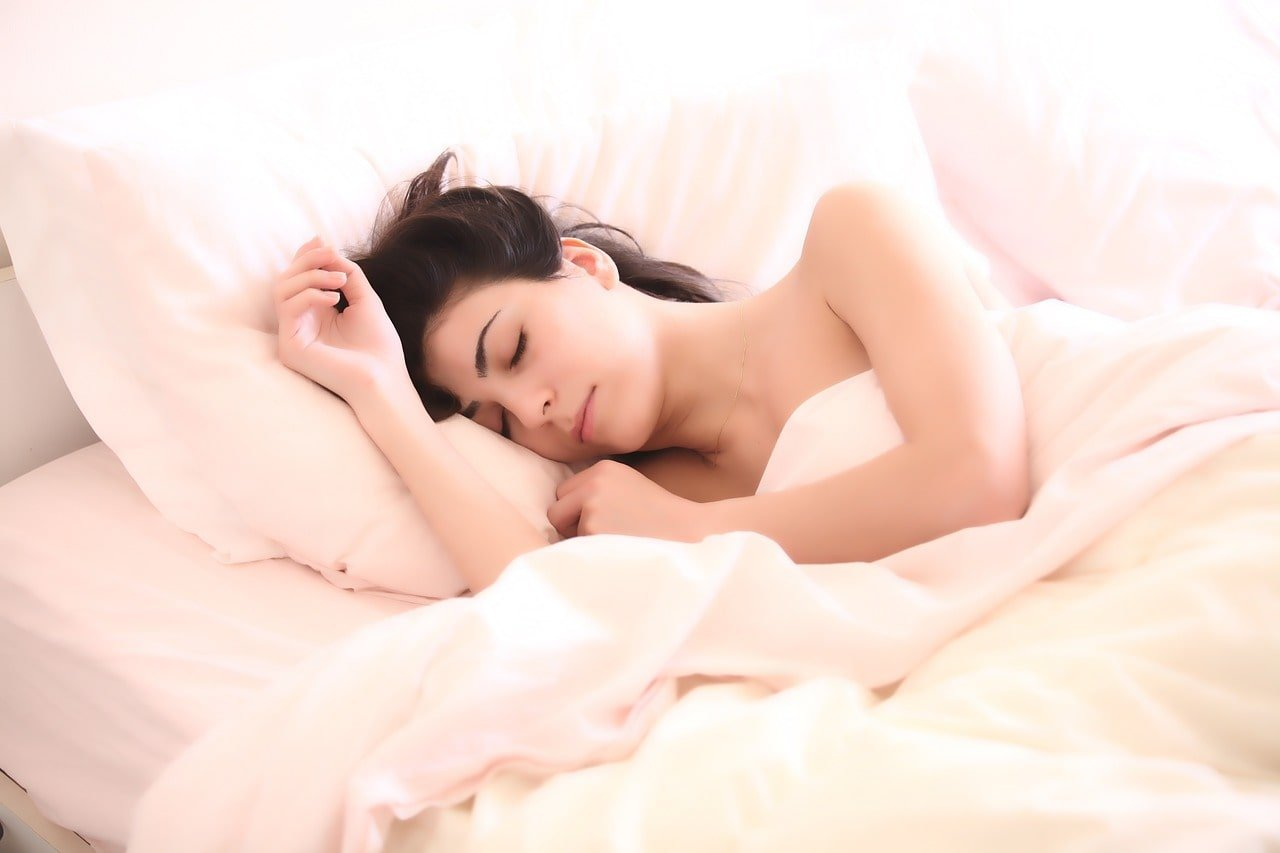 Women sleep well
