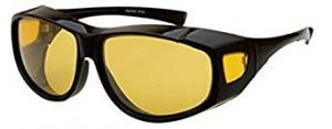 Yellow Night Vision Driving Fit Over Glasses