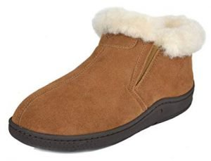 DREAM PAIRS Women's Suede Leather Sheepskin Fur Lining Winter Boots