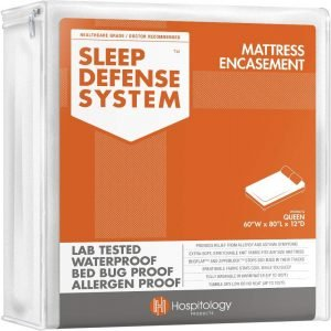 HOSPITOLOGY PRODUCTS Sleep Defense System - Waterproof/Bed Bug/Dust Mites - PREMIUM Zippered Mattress Encasement
