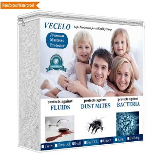 VECELO Hypoallergenic Waterproof Bed Cover