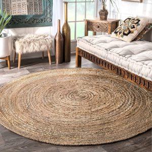 nuLOOM Natural Hand Woven Rigo Jute rug