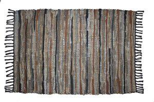 Cotton Craft Leather Chindi Rug