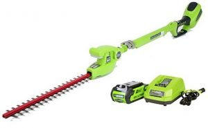 Greenworks 22272 Long Reach Electric Hedge Trimmer