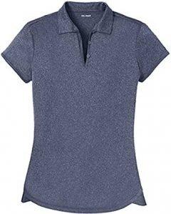 Joe's USA DRI-Equip Ladies Moisture Wicking Heather Golf Polos