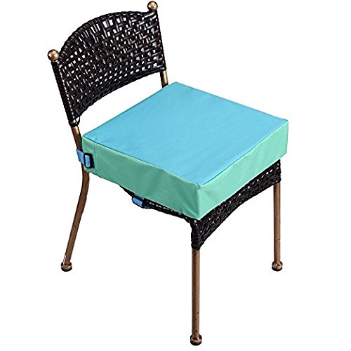 Toddler Booster Seat for Dining Double Straps Washable Portable Thick Chair Increasing Cushion for Baby Kids by Tingtoms