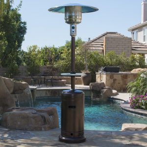 Belleze Patio Heater Propane with Adjustable Table