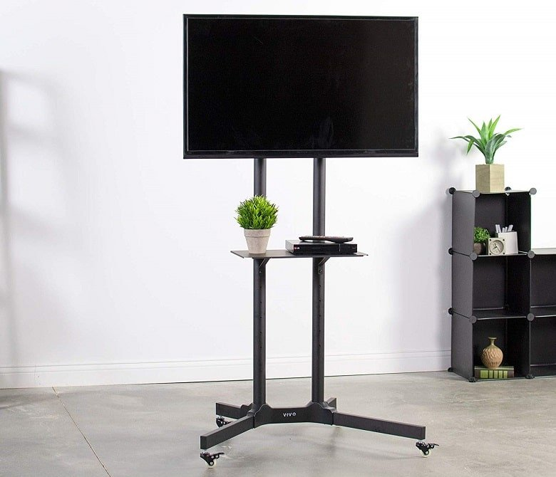 Best Mobile Tv Stands Portable Tv Carts Review 2019 Top 9 Ranking